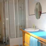 salle de bain de la chambre Chiloé à la maison des îles
